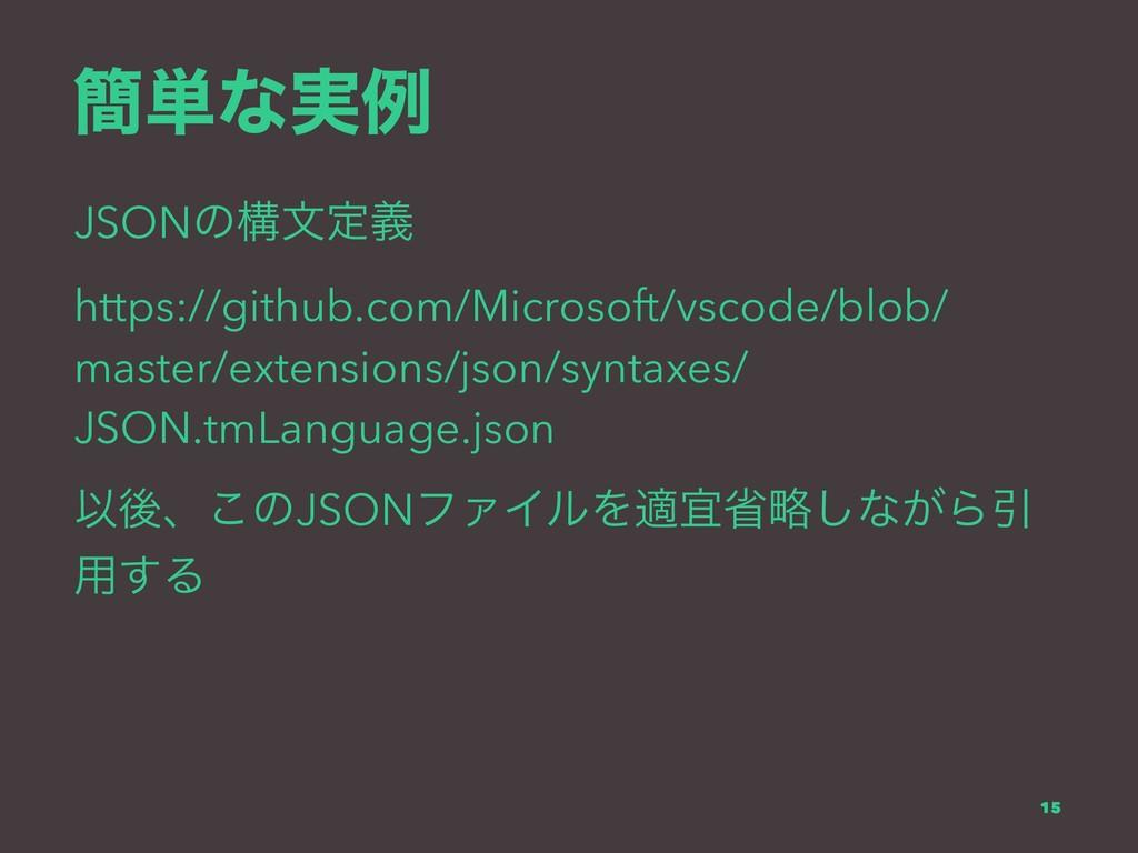 ؆୯ͳ࣮ྫ JSONͷߏจఆٛ https://github.com/Microsoft/vs...