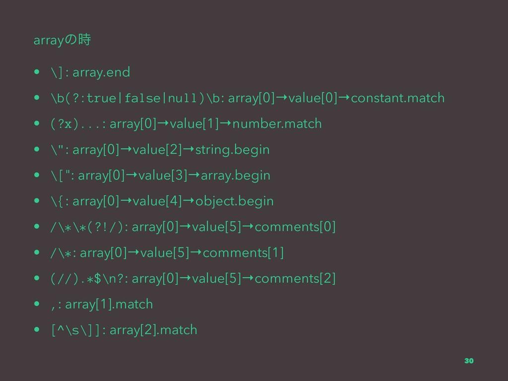 arrayͷ • \]: array.end • \b(?:true|false|null)...