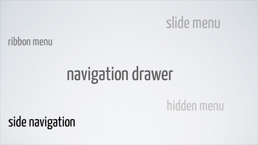 slide menu ribbon menu hidden menu side navigat...