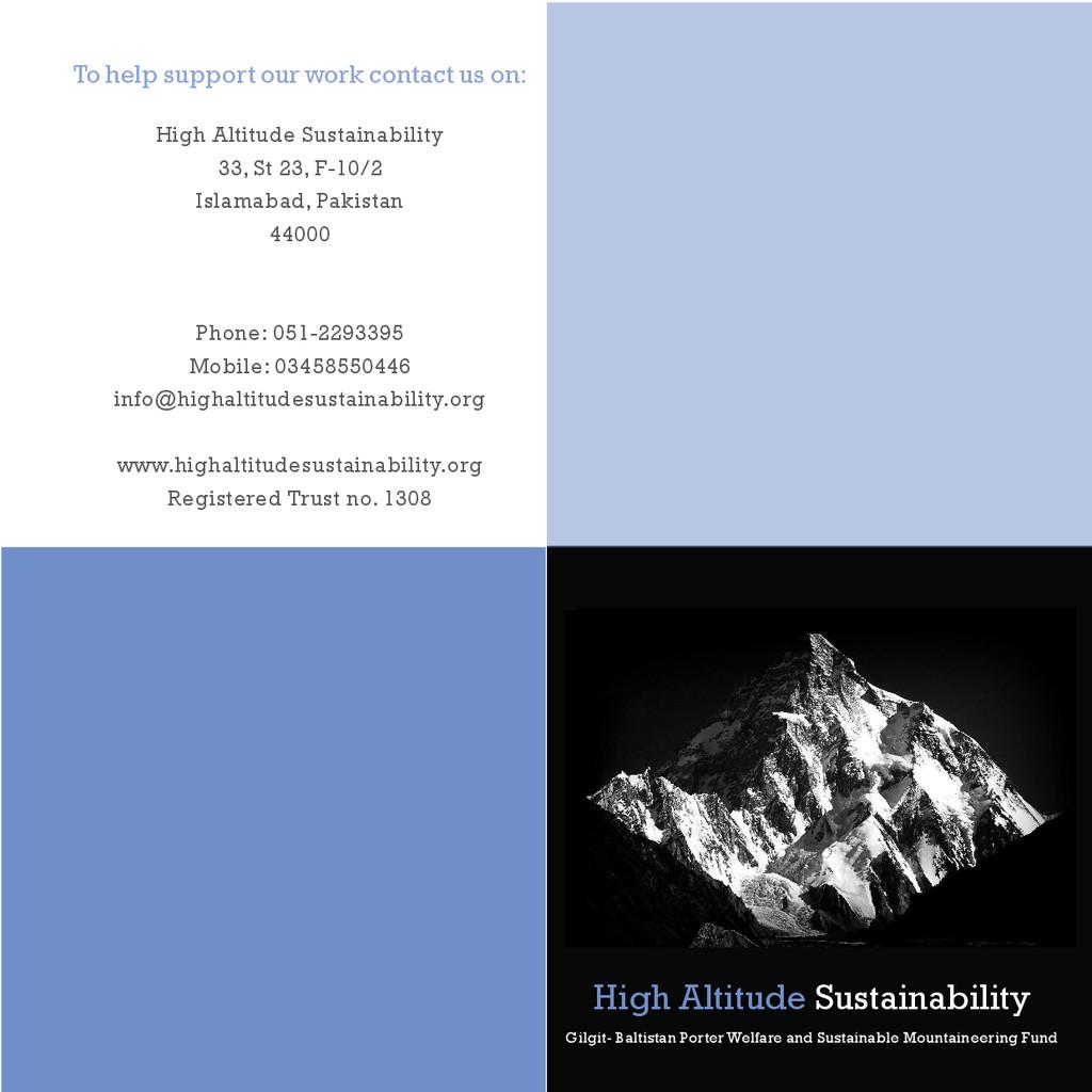 High Altitude Sustainability Gilgit- Baltistan ...