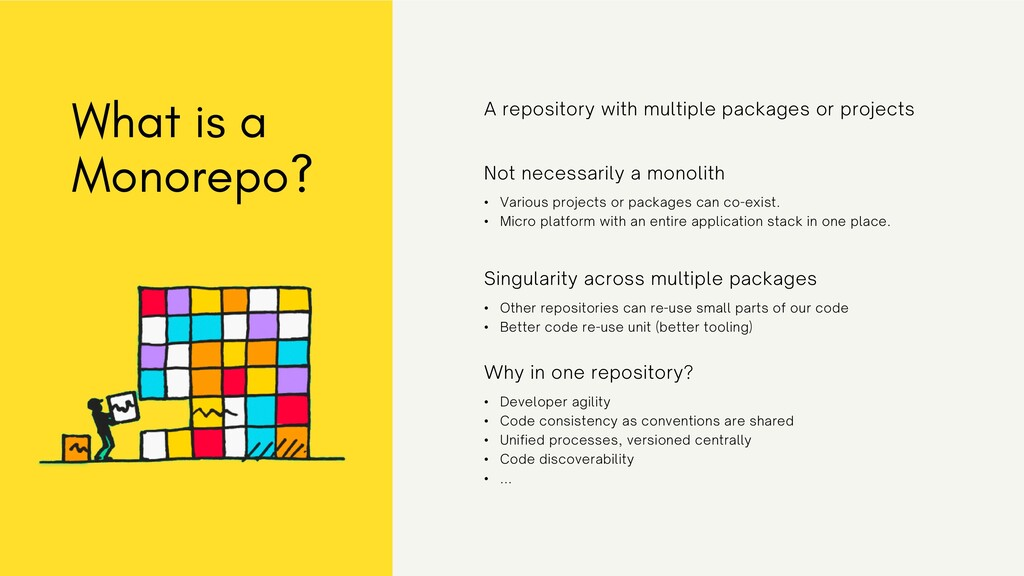 What is a Monorepo? A repository with multiple ...