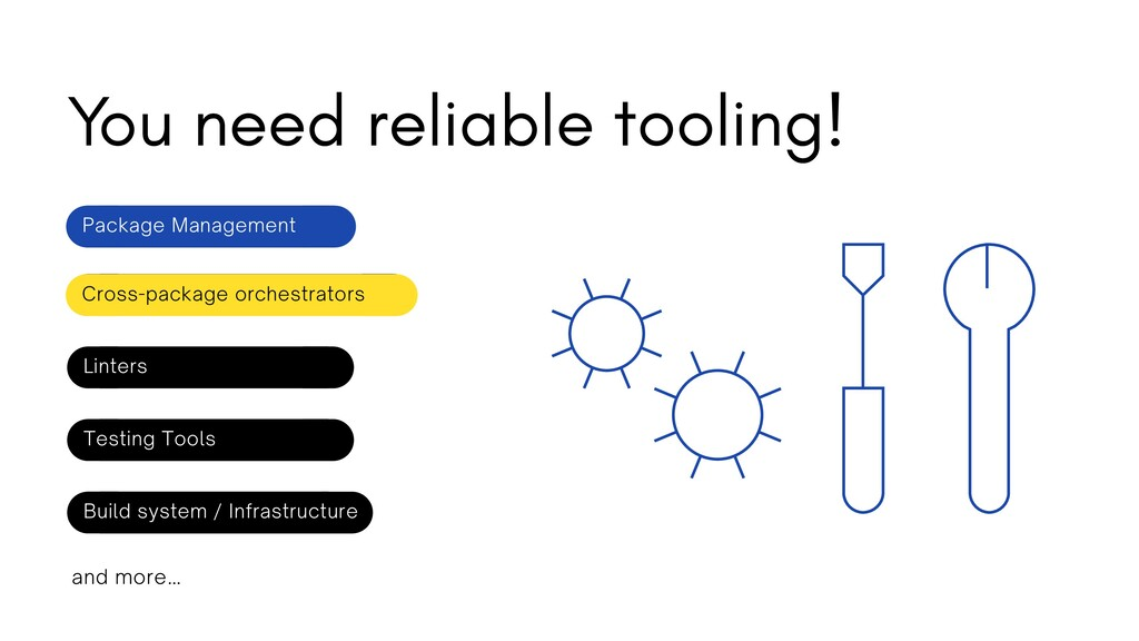 You need reliable tooling! Package Management L...