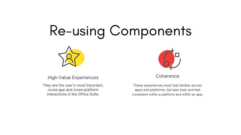 Re-using Components They are the user's most im...