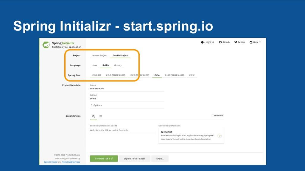 Spring Initializr - start.spring.io