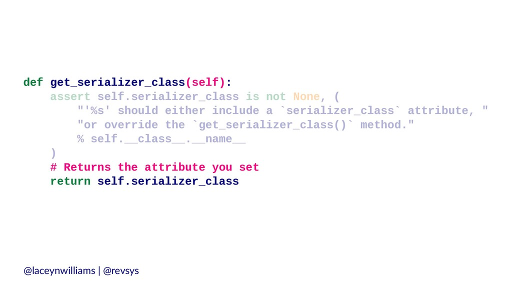 def get_serializer_class(self): assert self.ser...