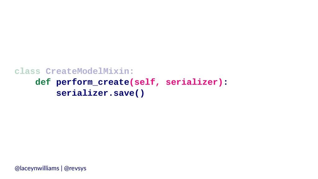 class CreateModelMixin: def perform_create(self...