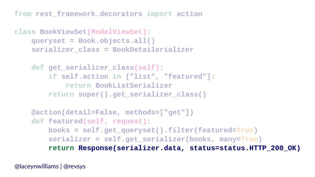 from rest_framework.decorators import action cl...