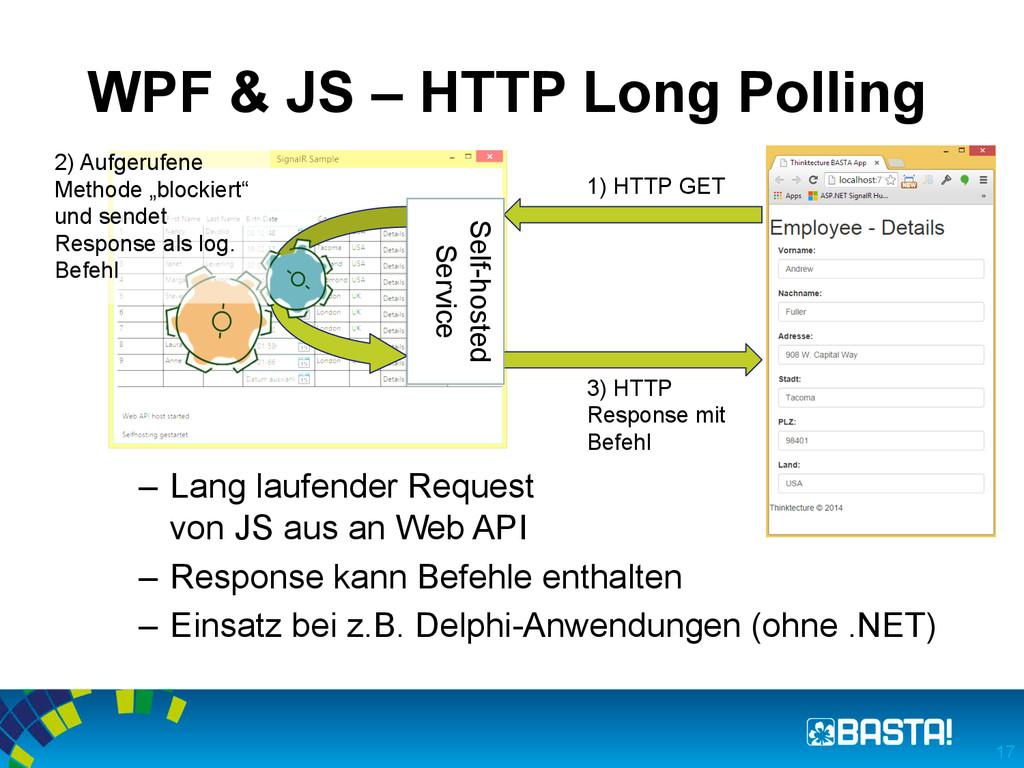 WPF & JS – HTTP Long Polling – Lang laufender ...