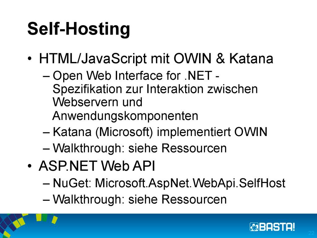 Self-Hosting • HTML/JavaScript mit OWIN & Kata...
