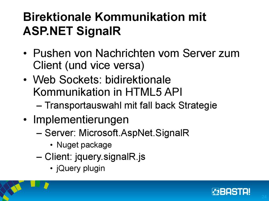 Birektionale Kommunikation mit ASP.NET SignalR ...