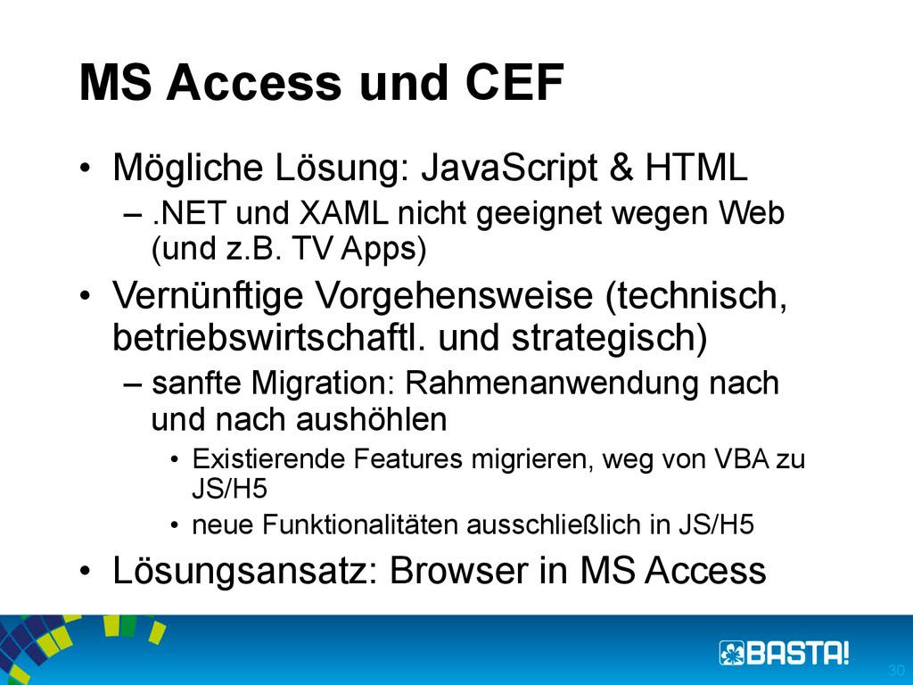 MS Access und CEF • Mögliche Lösung: JavaScrip...