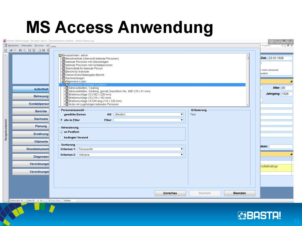 MS Access Anwendung 32