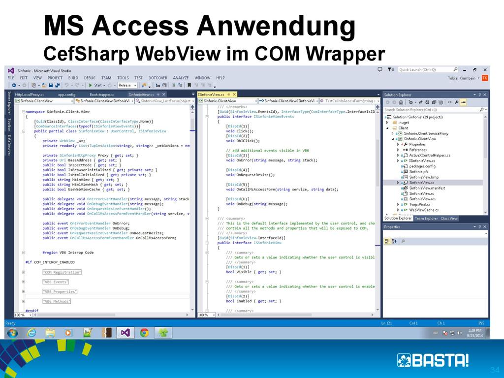 MS Access Anwendung CefSharp WebView im COM Wra...