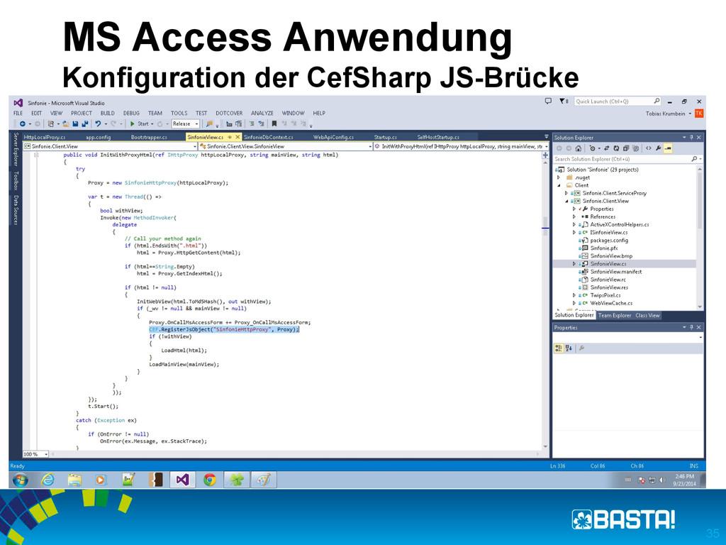 MS Access Anwendung Konfiguration der CefSharp ...