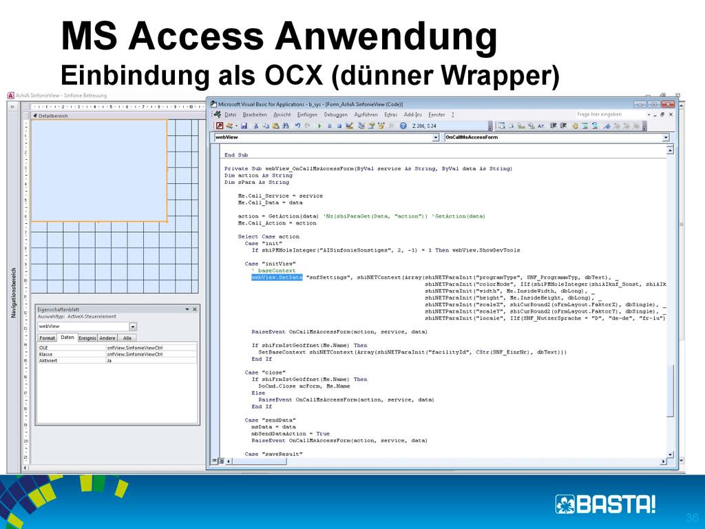 MS Access Anwendung Einbindung als OCX (dünner ...