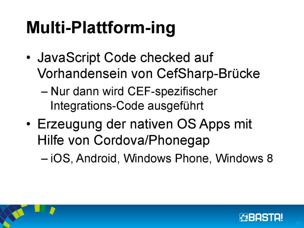Multi-Plattform-ing • JavaScript Code checked ...