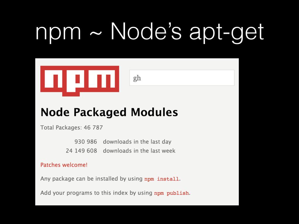 npm ~ Node's apt-get