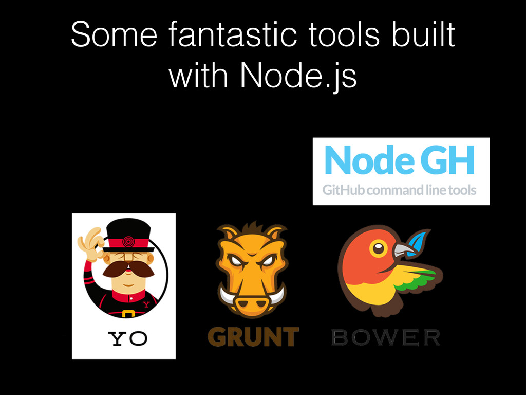 Some fantastic tools built with Node.js