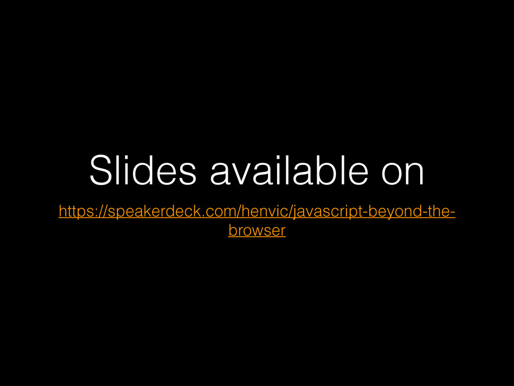 Slides available on https://speakerdeck.com/hen...