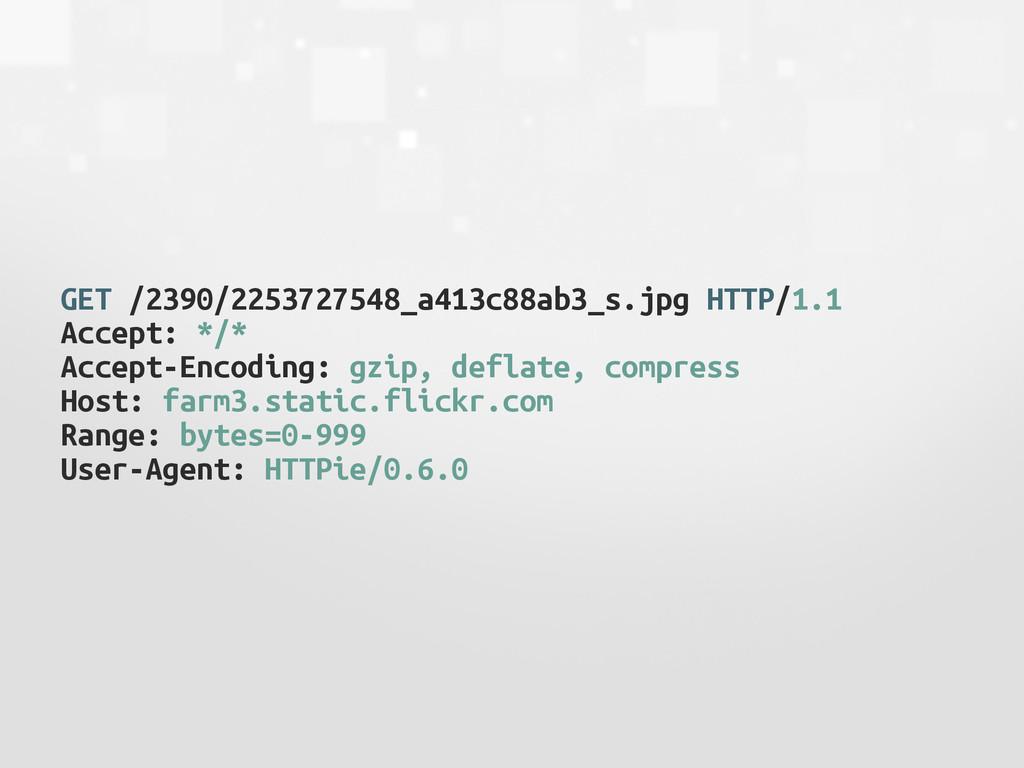GET /2390/2253727548_a413c88ab3_s.jpg HTTP/1.1 ...