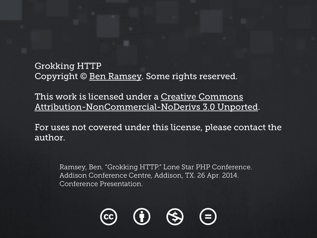 Grokking HTTP Copyright © Ben Ramsey. Some righ...
