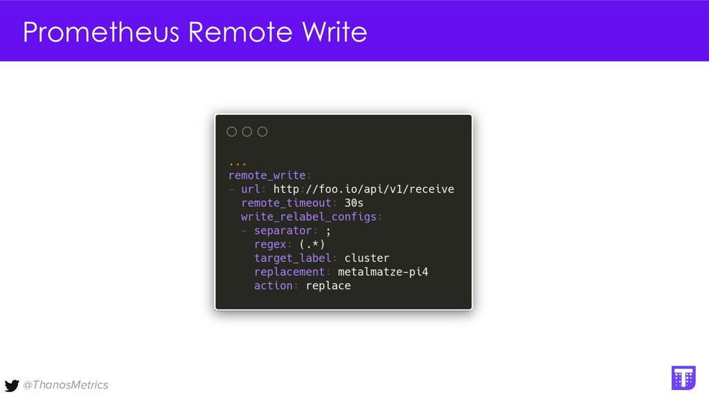 @ThanosMetrics Prometheus Remote Write