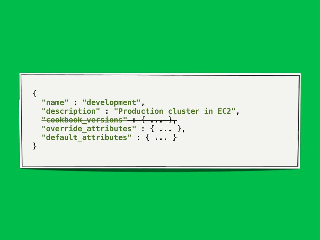 """{ """"name"""" : """"development"""", """"description"""" : """"Prod..."""