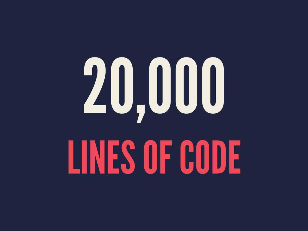 20,000 LINES OF CODE