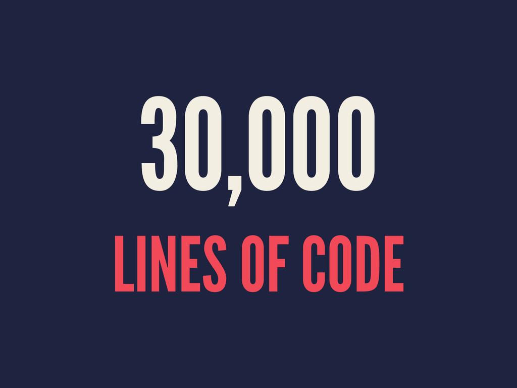 30,000 LINES OF CODE