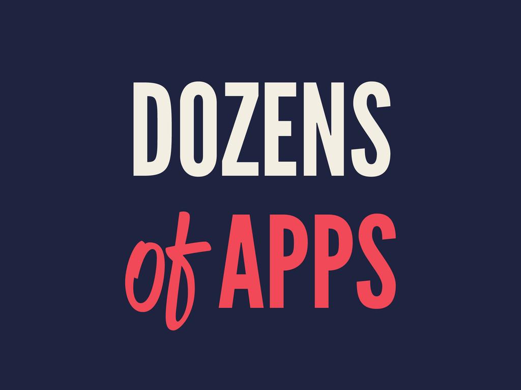 DOZENS of APPS