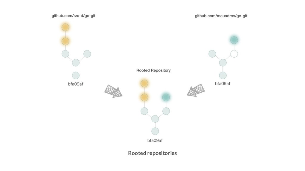 Rooted repositories