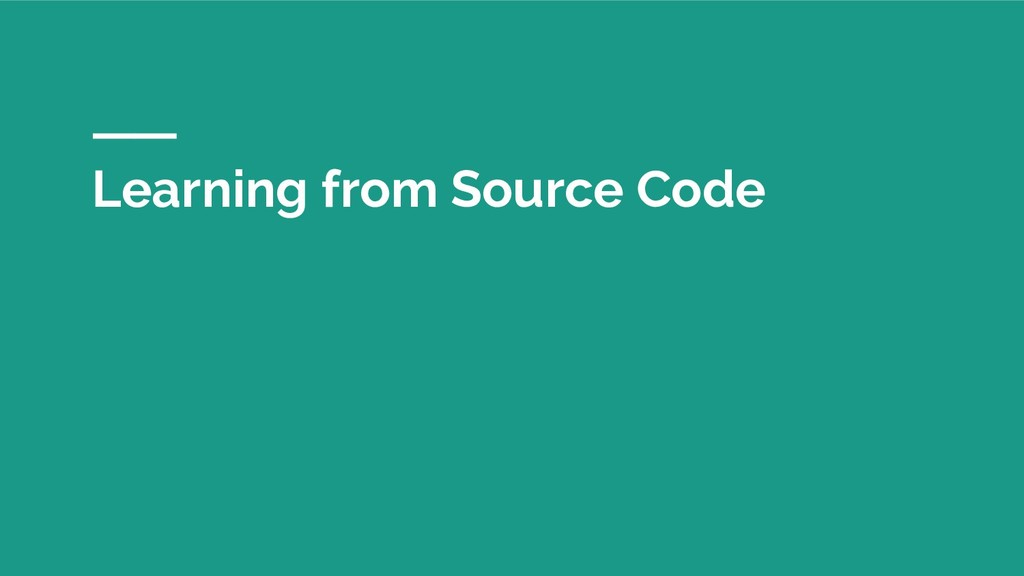 Learning from Source Code
