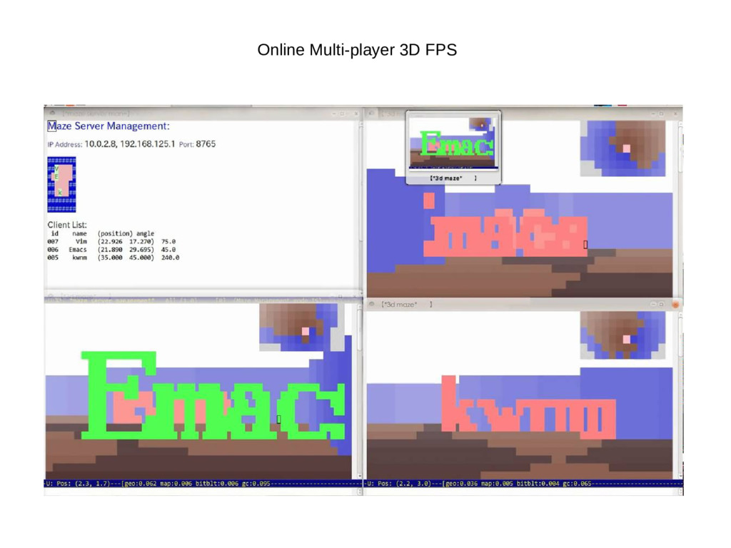 Online Multi-player 3D FPS