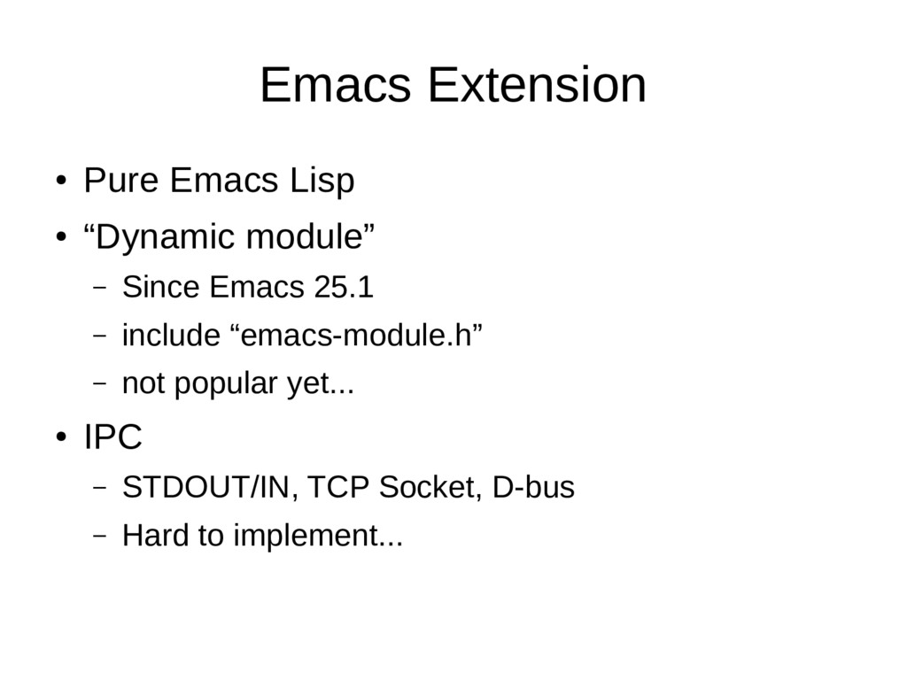 "Emacs Extension ● Pure Emacs Lisp ● ""Dynamic mo..."