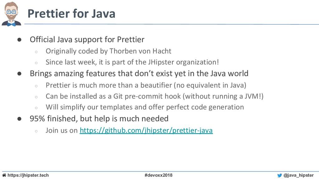 https://jhipster.tech #devoxx2018 @java_hipster...