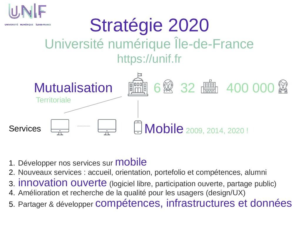 Stratégie 2020 Université numérique Île-de-Fran...