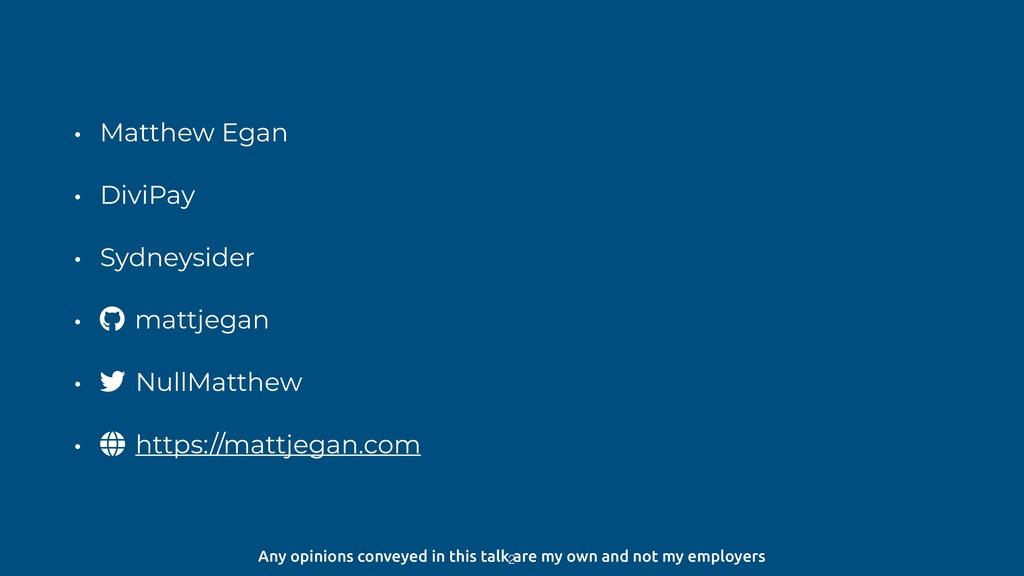 • Matthew Egan • DiviPay • Sydneysider • mattje...