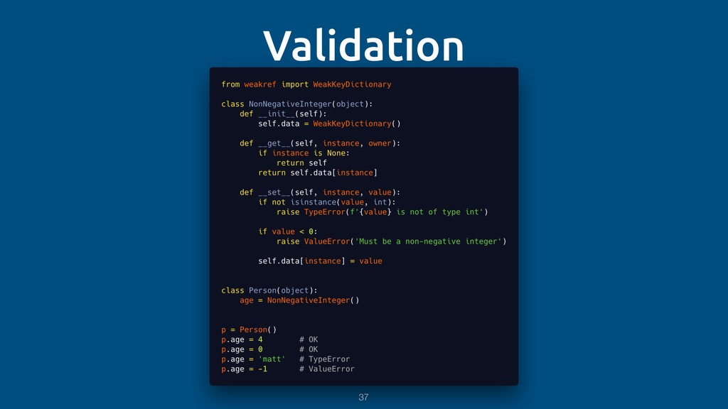 Validation 37