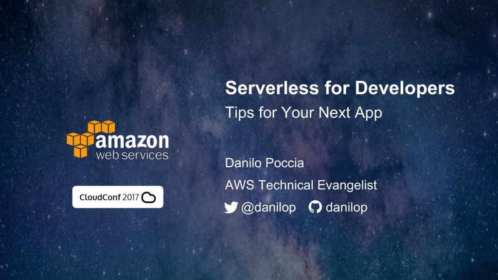 Serverless for Developers