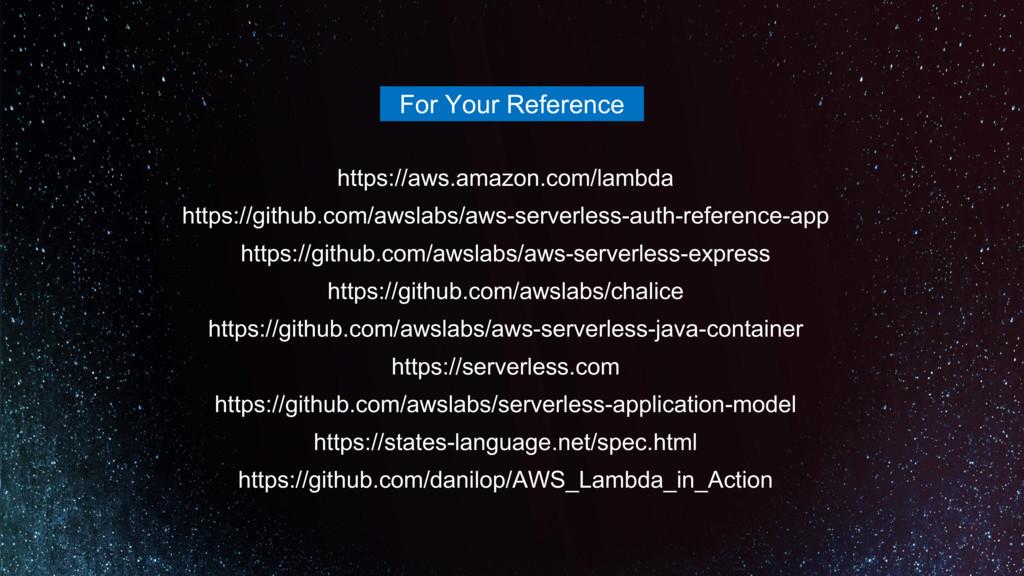 https://aws.amazon.com/lambda https://github.co...