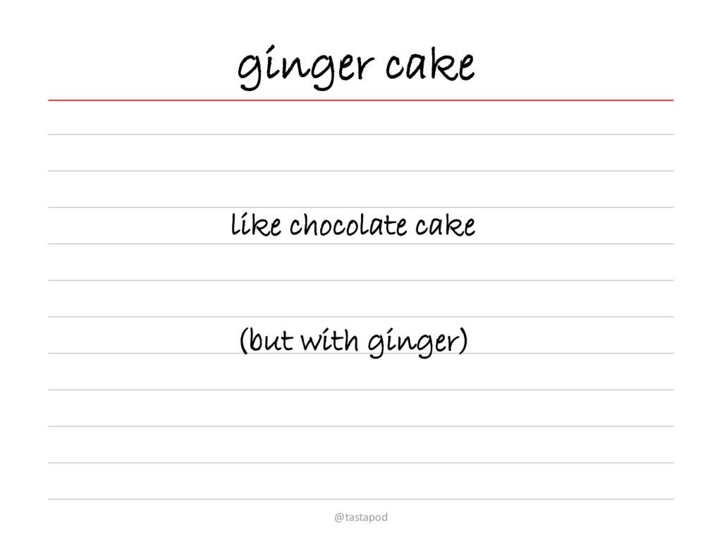 ginger cake like chocolate cake (but with ginge...