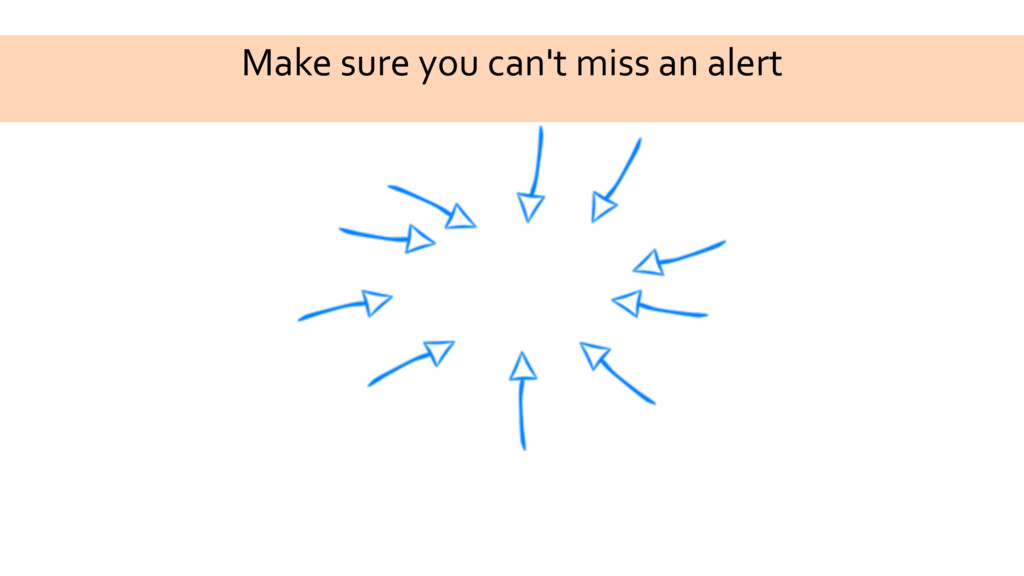 Make sure you can't miss an alert