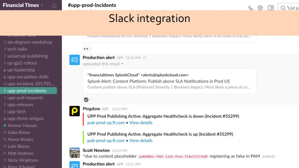 Slack integration