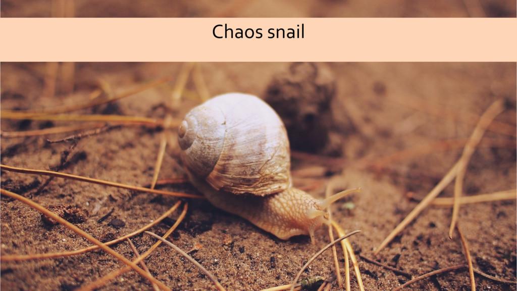 Chaos snail