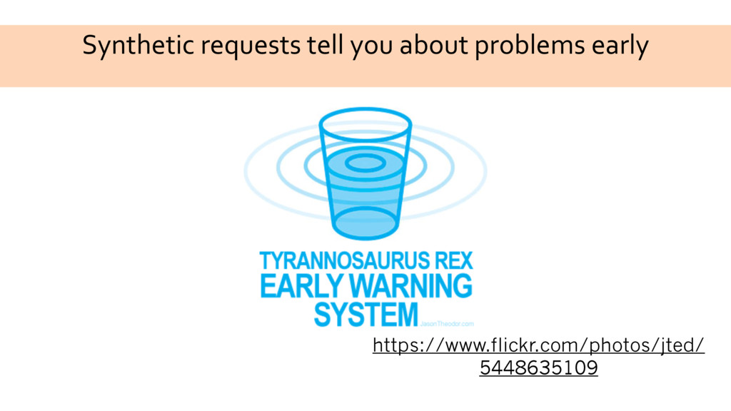 Synthetic requests tell you about problems earl...