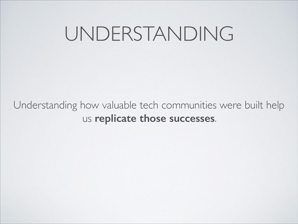 UNDERSTANDING Understanding how valuable tech c...