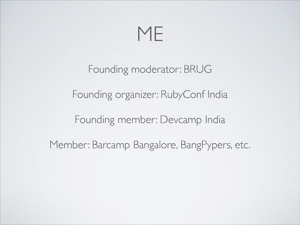ME Founding moderator: BRUG  ! Founding organ...
