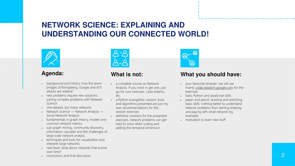 NETWORK SCIENCE: EXPLAINING AND UNDERSTANDING O...