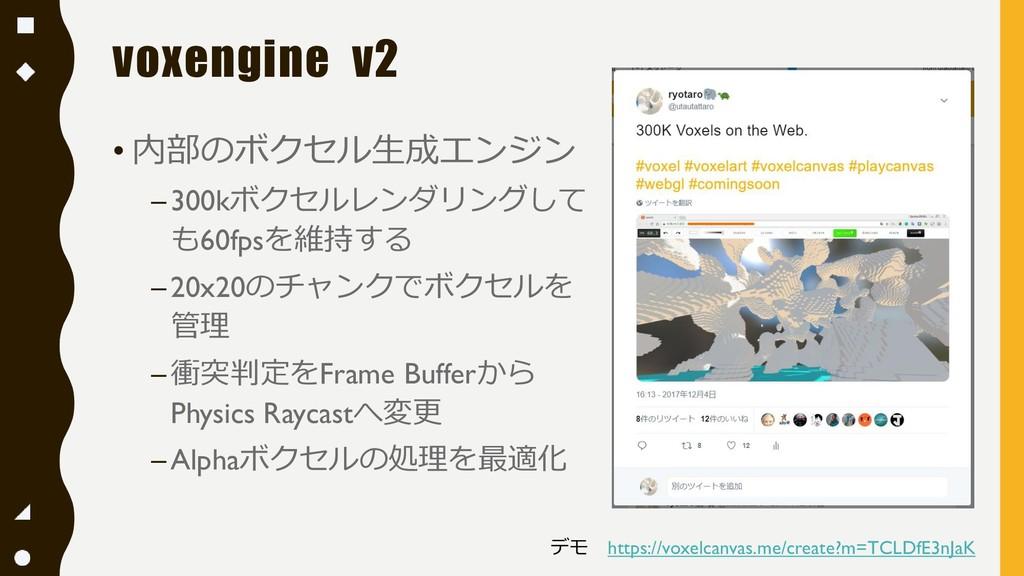 voxengine v2 • 内部のボクセル生成エンジン –300kボクセルレンダリングして ...
