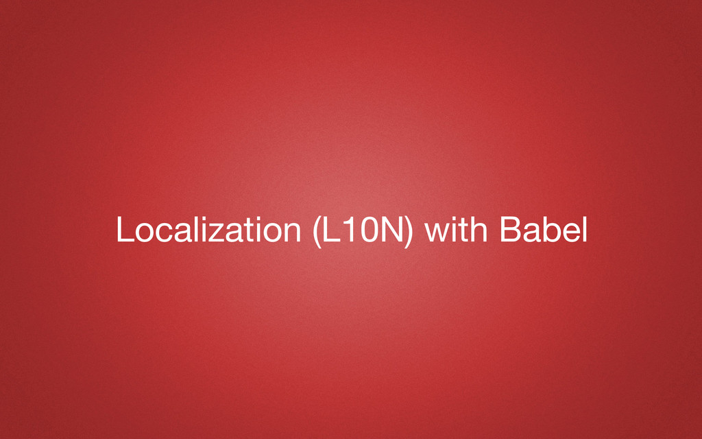 Localization (L10N) with Babel